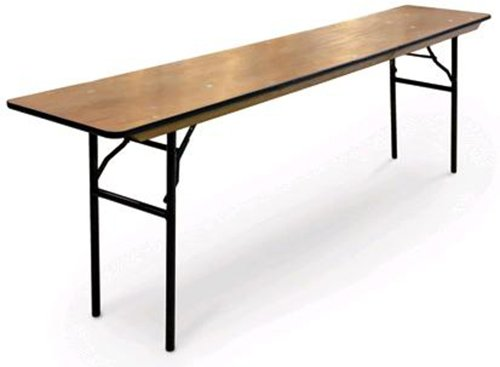 (McCourt 70950 Plywood Folding Table, Polycoat Finish with Vinyl Edge, 60
