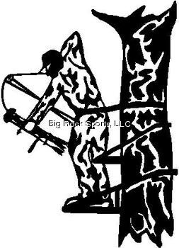 LVE Hunting Decals Tree stand Hunter Decal, White