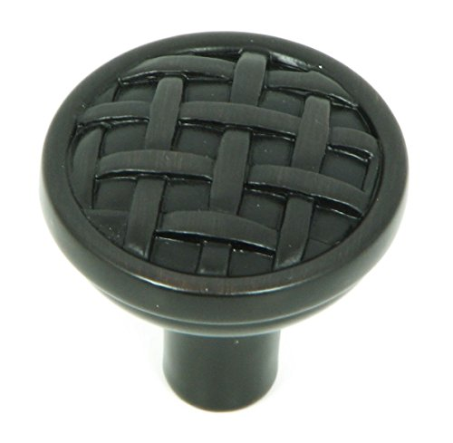 - Stone Mill Hardware CP28-OB Oil Rubbed Bronze Basket Weave Cabinet Knob,