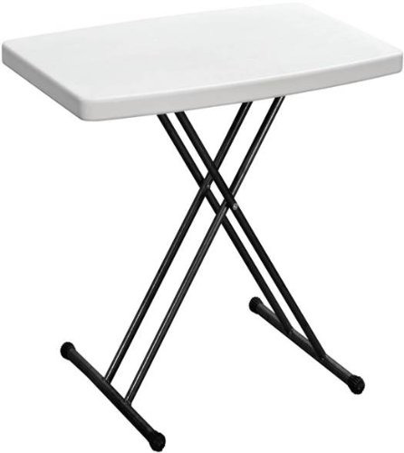 Duralight HDPE Personal Folding Table, 30-Inch, White Gra...