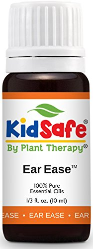 Plant Therapy KidSafe Ear Ease Synergy Essential Oil Pre-Diluted 10 mL (1/3 oz) 100% Pure, Therapeutic Grade (Tea Tree Oil For Ear Infection In Toddler)