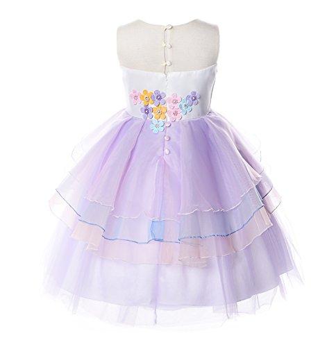 JerrisApparel Robe Licorne Enfant de Princesse Volants Mariage Fête Costume