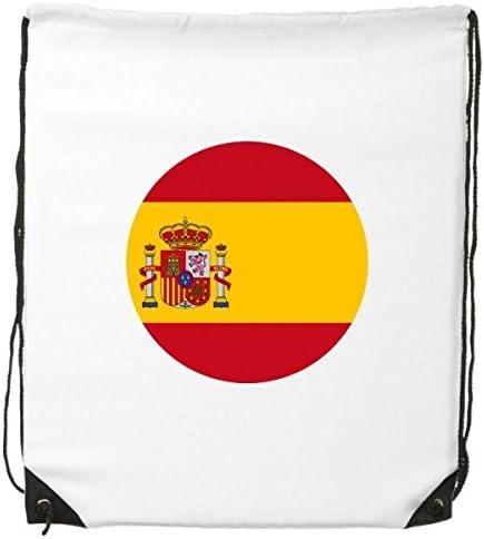 DIYthinker Bandera nacional de España, símbolo de país de Europa, patrón redondo con cordón, mochila de lineas finas, bolsa de mano creativa para el hombro, bolsa de poliéster ecológica: Amazon.es: Deportes y