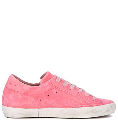 Piel Model Fluo Sneaker En Rosa Philippe Paris xgzIH