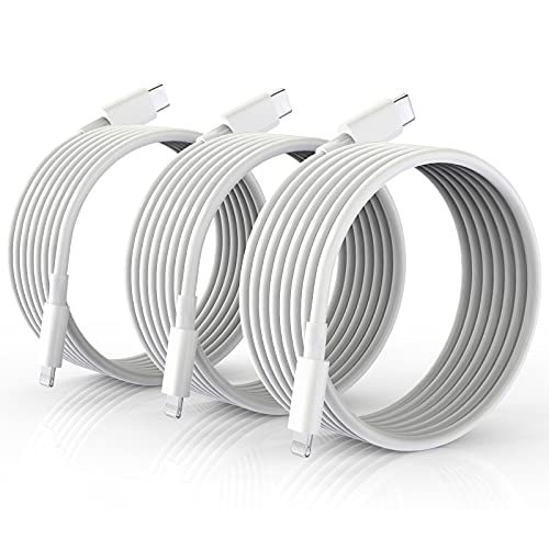 USB C to Lightning Cable 10FT 3Pack, 【Apple MFi Certified】 iPhone Fast Charger Cable, USB-C to Lightning Charging Cord for iPhone 13/13 Pro/13Pro Max/ 12 Mini/12/12 Pro/11/11 Pro/XS/Xr/X