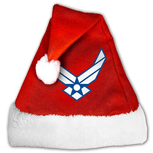 U.S. Air Force Logo Adult Unisex Kids Christmas Hat Xmas Santa Red Cap Hat for Christmas Party