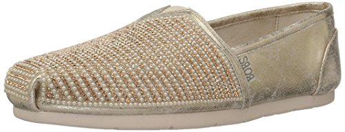 Skechers BOBS Women's Luxe Bobs-Big Dreamer Flat, Rose Gold, 7.5 M US