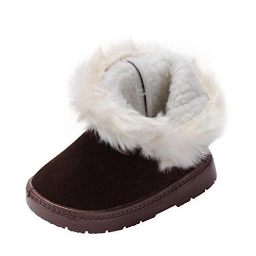 ❆HUHU833 Kinder Mode Baby Mädchen Stiefel, Schnee Stiefel Warm Schuhe Braun