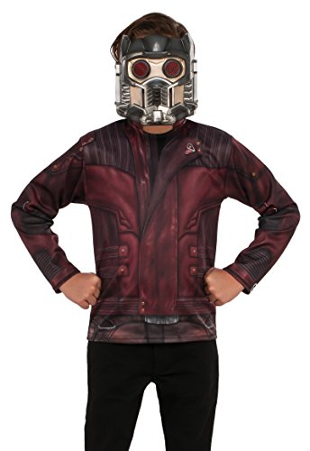 Star Childrens Costumes (Rubie's Costume Guardians Of The Galaxy Vol. 2 Child's Star-Lord Costume Top, Multicolor, Large)