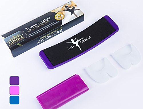 TurnMaster- New and Improved Turning Feed Design- Perfect Your Turns, Positioning Spotting and Pirouettes. Premium Box With Bonus Stretch Band and Toe Pad Included