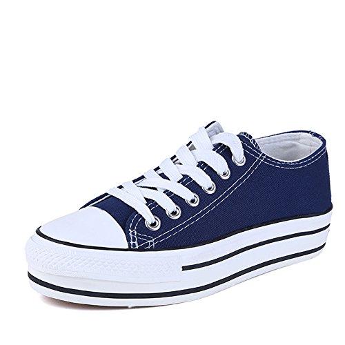 MINIVOG Womens Canvas Fashion Walking Shoes Blue o4uK2D5P