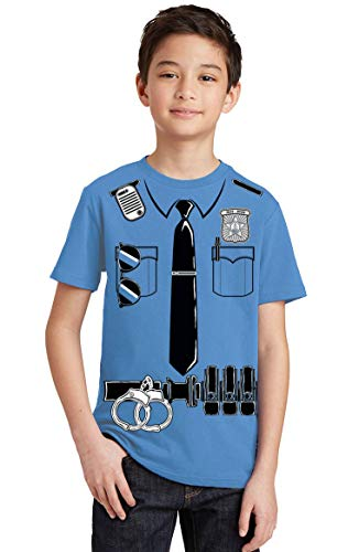 Funny Police Halloween Costumes (Promotion & Beyond Police Costume Funny Halloween Cosplay Youth T-Shirt, Youth L,)