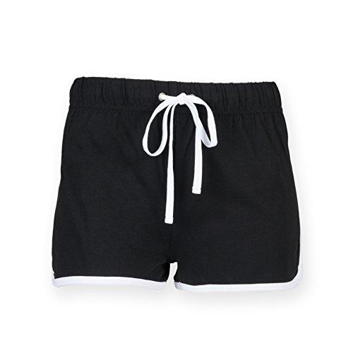 Skinni Fit - Pantaloncini sportivi - Donna Multicolore - Black/ White