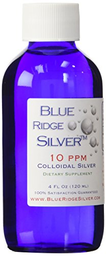 Blue Ridge Silver 10 ppm 4 oz Glass Bottle Colloidal Silver