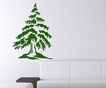 Wandtattoo Baum Tannenbaum Kiefer Bäume Aufkleber Äste Kinderzimmer ...