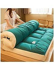 FENGFENG Japanse opvouwbare futon matras,Dikken Tatami Mat Slaapkussen Opvouwbare Roll Twin Full Queen King Tatami Mat Draagbare Slaapmat Vloer Bed Matras Pad Topper