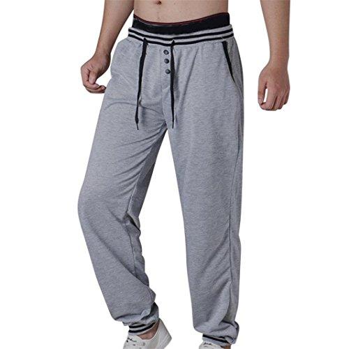 Clearance Sale! Men Pants WEUIE Mens Joggers Male Trousers Men Pants Casual Pants Sweatpants Jogger (33-39 Waist, Gray)