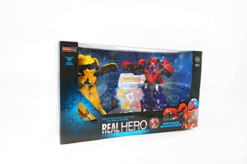 NBD Corp Real Hero- Infrared Fighting Robots A Fun Toy For Boys And Girls This Is A Very Exciting Toy For Kids This Really Rad Robot Is A Super Fun Boxing Robot And The Hero You've Been Looking For ()
