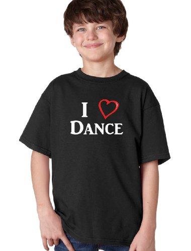 I LOVE (HEART) DANCE Youth T-shirt / Ballet, Tap Hip-Hop Dancing Lover Tee Shirt