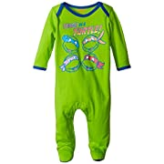 Nickelodeon Baby Baby-Boys Newborn Ninja Turtle Sleep N Play Coverall, Green, 0-3 Months