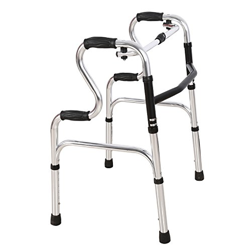 Walker Aluminum Elderly Walker Walking Auxiliary Drive Medical Crutches Drive Medical Walkers Folding Adjustable High by jiaminmin