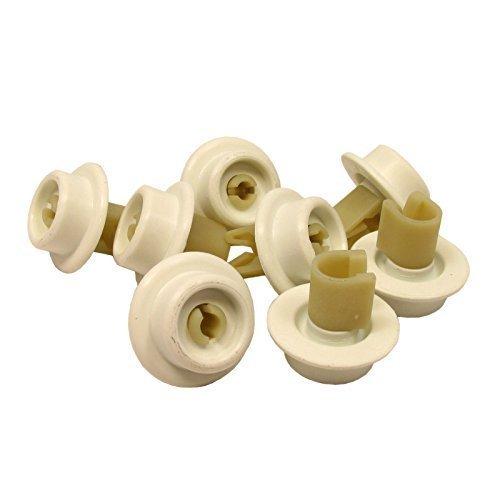 Juego de ruedas para cesta inferior de lavavajillas AEG ruedas (8 ...