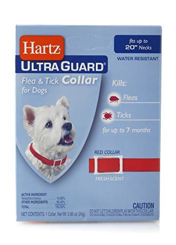HARTZ Hartz Ultraguard Collar For Dogs, Red EA