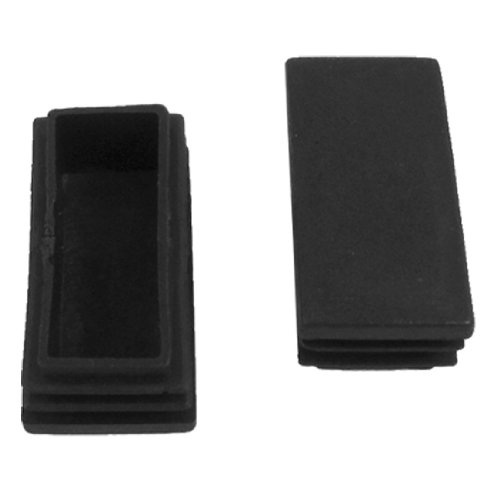 uxcell Plastic Rectangle Tube Inserts End Blanking Cap 25x50mm 10 Pcs Black (Plastic Rectangle Tube Inserts compare prices)