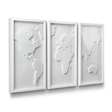 Umbra Mapster Framed Wall Art, Set of 3