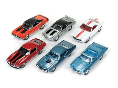 Muscle Cars USA 2017 Set of 6 cars Release B 1/64 by Johnny Lightning JLMC003-B