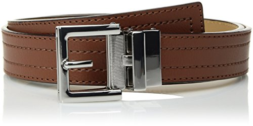 Comfort Click Men's Adjustable Perfect Fit Pbl Leather Belt - As Seen On Tv, whiskey/natural/polished nickel, ONE SIZE (Leather Belt Simulated)