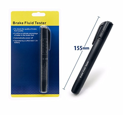 Brake Fluid Tester 5 LED Car Vehicle Auto Automotive Testing Tool for DOT3/DOT4 without (Brake Tech Tools)