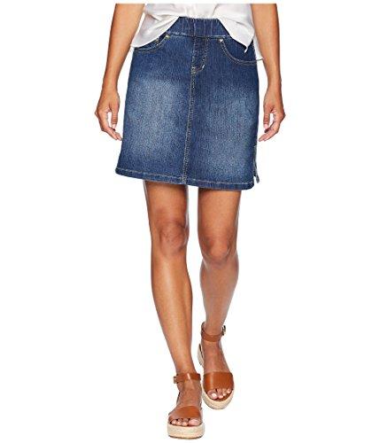 Skort Jean Skirt (Jag Jeans Women's Petite On The Go Skort, Blue Dive, 12P)
