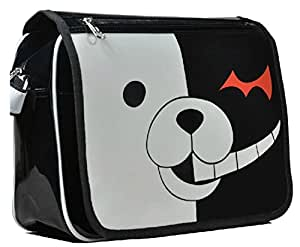 Dangan Ronpa Negro y White Bear Messenger Bag