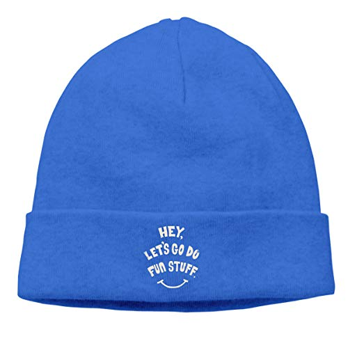 (Hat Hey, Let's GO DO Fun Stuff! Winter Outdoor Hat Warm Stretchy & Soft Men & Women Solid Color)