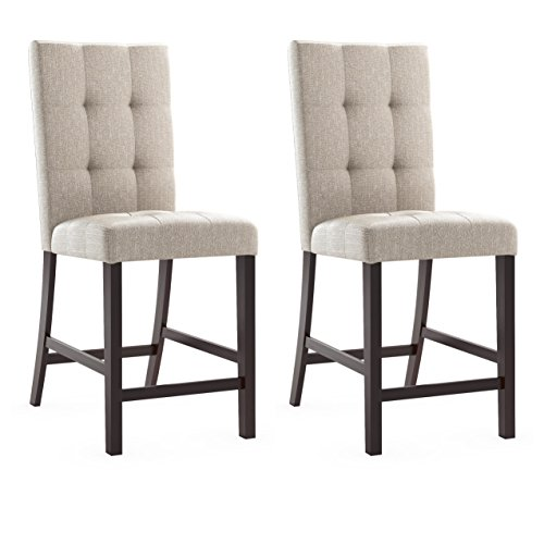 (CORLIVING DWP-590-C Bistro Dining Chairs, Brown)