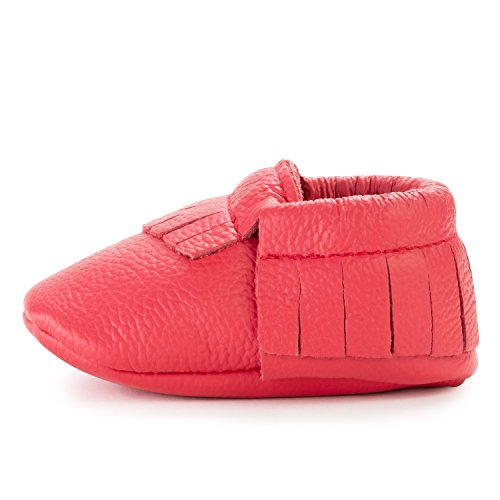 BirdRock Baby Moccasins - 30+ Styles for Boys & Girls! Every Pair Feeds a Child (US 6.5, Hibiscus)