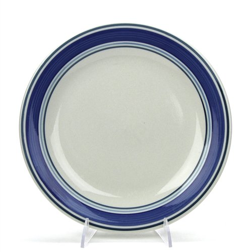 Multi Band Blue by Mainstays, Stoneware Salad Plate ()