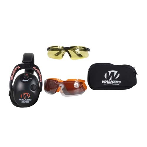GSM Outdoors Alpha Muffs All Sports Glasses Combo Kit - All Walkers Sport Glasses