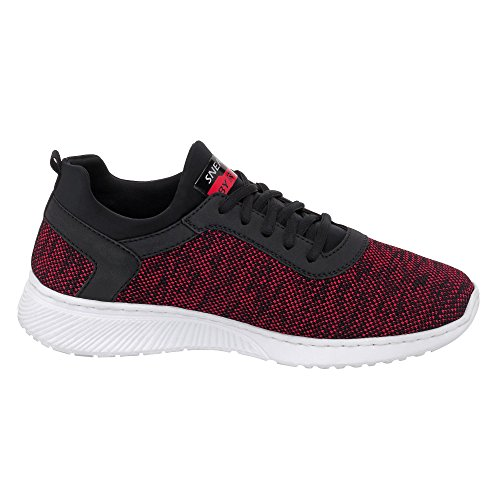 Rieker Herren B5051 Sneaker Rot (Rot-Schwarz/Schwarz/Schwarz)