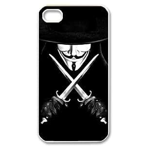 C-EUR Customized Print V for Vendetta Pattern Back Case for iPhone 4/4S