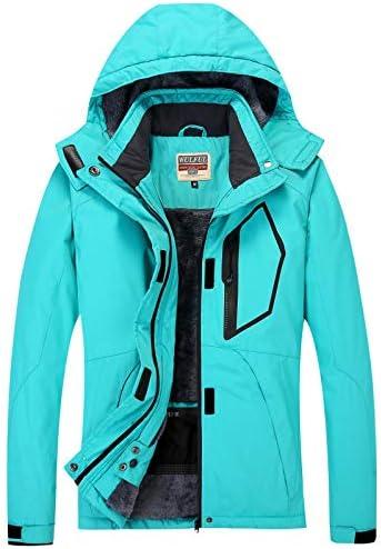 WULFUL Women's Waterproof Snow Ski Jacket Mountain Windproof Winter Coat with removable hood