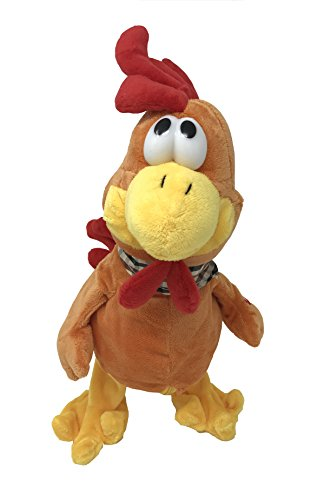 Wacky Cluckin Chicken Toy-Dancing-Twerking-Jerking-Choking Easter Chicken-Hilarious Animated Crazy Chicken-Grab His Neck or Press His Hand He Stands 15 Inches Tall