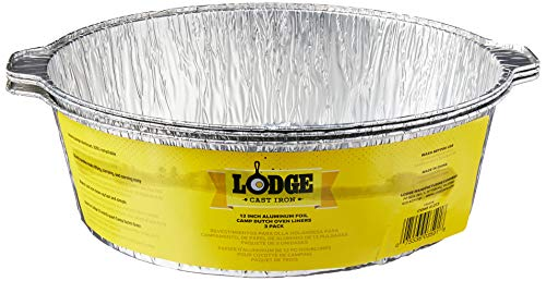 Lodge 12-Inch Aluminum Foil Dutch Oven Liners, 3-Pack