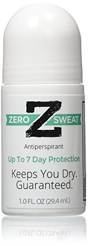 ZeroSweat Antiperspirant Deodorant | Clinical Strength Hyperhidrosis Treatment - Stops Armpits from Sweating (1 Bottle) (Best Prescription Strength Antiperspirant)