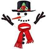 Toyvian Snowman Dressing Kit Set Snowman Decorating Kits Winter Outdoor Toys Decoration 15PCS