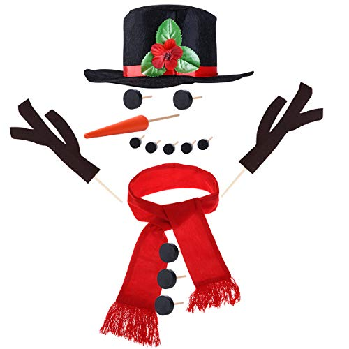 TOYMYTOY Snowman Kit Snowman Decorating Kit 15Pcs Snowman Making Kit Winter Toys Decoration