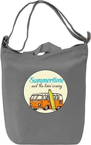 Summertime Trips Borsa Giornaliera Canvas Canvas Day Bag| 100% Premium Cotton Canvas| DTG Printing|