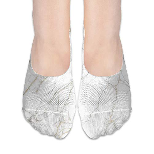 No Show Socks Best White Marble Custom Personalized Womens Low Cut Sock Casual Invisible Socks for Girl