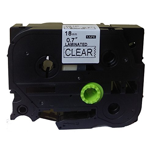 Black on Clear Label Tape Compatible for Brother TZ 141 TZe 141 18mm P-Touch 8m 2310 Label